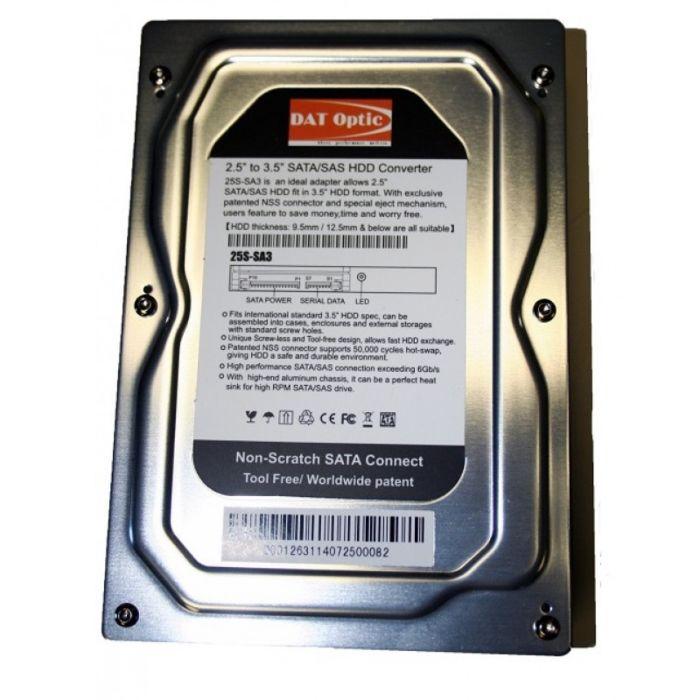 2 5 Sata Sas Ssd Hdd To 3 5 Sata Hard Drive Converter Adapter