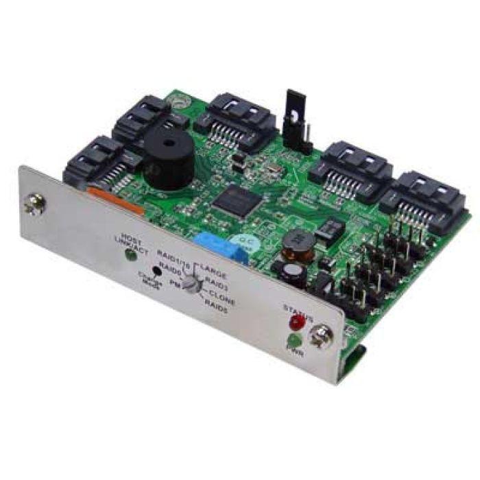 SATA Hardware RAID0/1/5/10/CLONE and Hotspare SATA Port Multiplier  Controller with JMicron