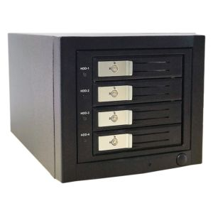 eSATA Four SATA Tray-Less JBoD/RAID5/3 Enclosure