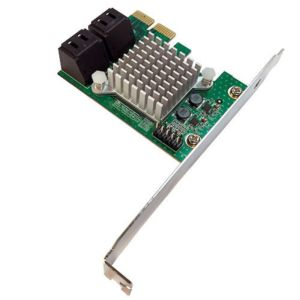 Four SATAIII (6Gb) PCIe V2 (10Gb) Support MAC, Windows, Linux Included Low Profile Bracket