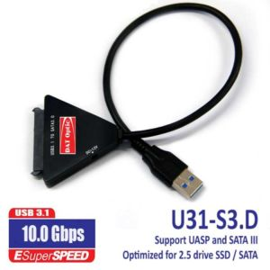 USB 3.1 To SATAIII (6Gb) Direct Connect Support UASP, MAC, Windows And Linux
