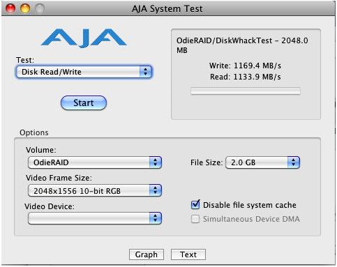 JAJ speed test of RM16-SAS raid system