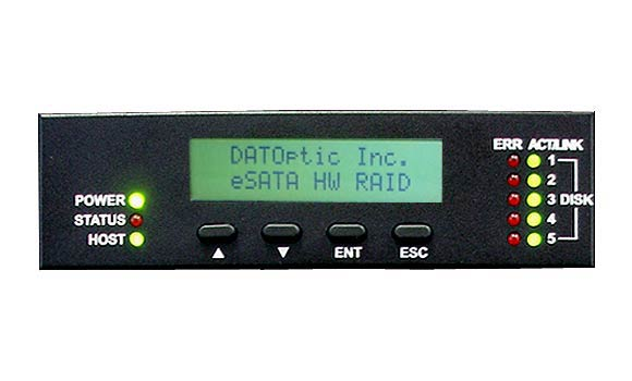 RAID5 enclosure eSATA host - eBOX-R5  LCD Control Panel